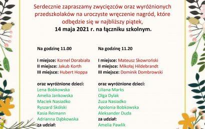"""Wręczenie nagród w Miejskim Konkursie pt. """"Wiosenny Eko – Kapelusz"""""""