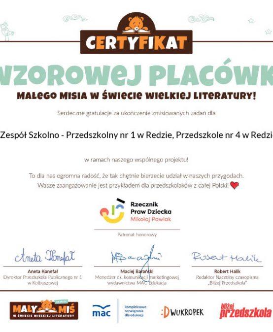 """Przedszkolaki, z grupy: """"Sówki"""" i ich udział w dwóch Ogólnopolskich Projektach Edukacyjnych, zakończonych certyfikatami uznania dla naszej placówki."""